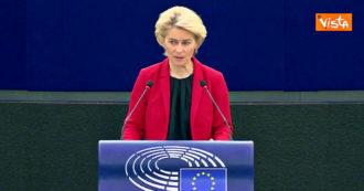 """Polexit, von der Leyen: """"Preoccupata per ciò che sta succedendo in Polonia. Sistema giudiziario a rischio, principi Ue minacciati"""" – Video"""