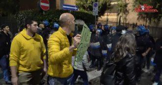 No green pass a Milano, tensione vicino alla Cgil: impedito passaggio davanti alla sede del sindacato